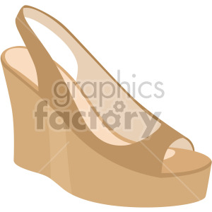 womans wedge shoe clipart. Commercial use image # 408153