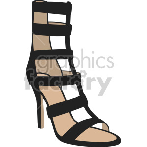 womens gladiator shoes clipart. Royalty-free image # 408163