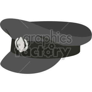 black captain hat no background clipart. Royalty-free image # 408183
