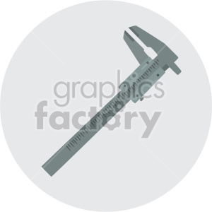 caliper on circle background clipart. Royalty-free image # 408246