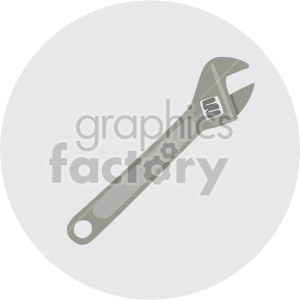 crescent wrench on circle background clipart. Royalty-free image # 408247