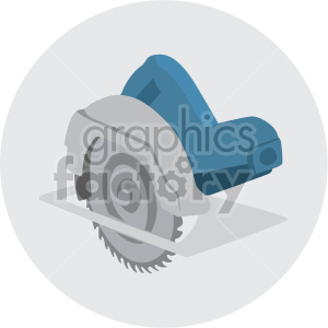 circular saw on circle background clipart. Commercial use image # 408258
