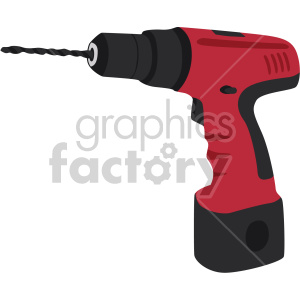 cordless drill no background clipart. Commercial use image # 408286