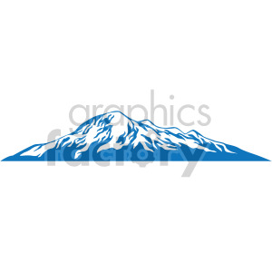 blue mountain design clipart. Royalty-free image # 408304