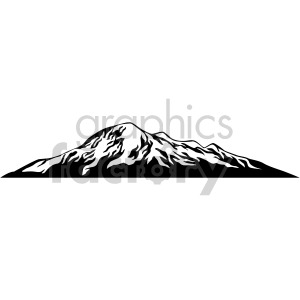black mountain design clipart. Royalty-free image # 408311