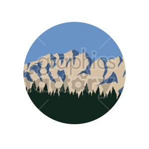 mountain forest scene circle design clipart. Royalty-free image # 408317
