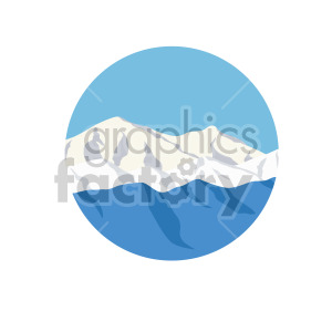 snow covered mountain scene circle design clipart. Royalty-free image # 408318