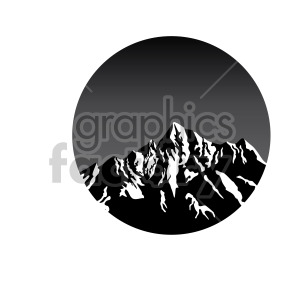 dark mode mountain top design clipart. Royalty-free image # 408321