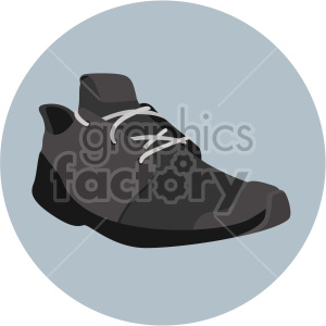 black shoe in circle design clipart. Royalty-free image # 408328