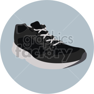 black sneaker in circle design