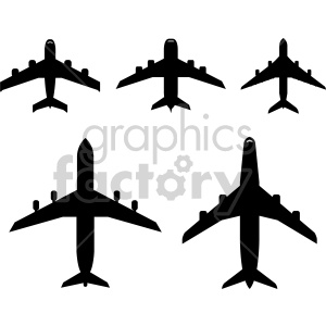 fleet of airplane clipart. Commercial use image # 408431