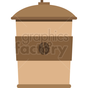 to go coffee cup vector clipart. Royalty-free image # 408448