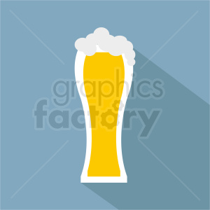 tall glass of beer on square background clipart. Commercial use image # 408451