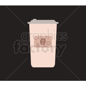 coffee cup vector on black clipart. Commercial use image # 408456