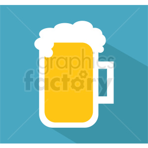 glass of beer on square background clipart. Commercial use image # 408466