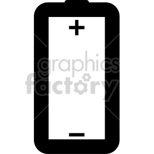 black white battery outline clipart. Royalty-free image # 408483
