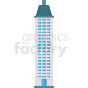 skyscraper building vector icon clipart. Royalty-free image # 408513