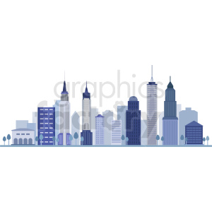 new york skyline flat vector design clipart. Commercial use image # 408521