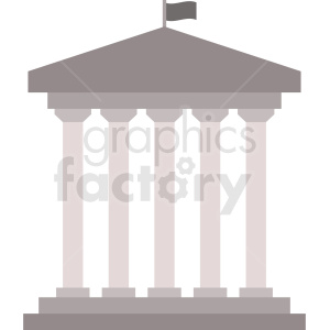 government building vector icon clipart. Royalty-free image # 408548