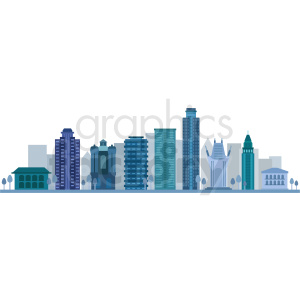 downtown los angeles no label vector clipart. Royalty-free image # 408551