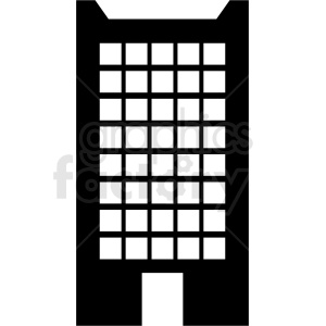 vector office building no background clipart. Royalty-free image # 408606