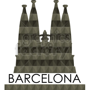 barcelona label template vector clipart. Royalty-free image # 408641