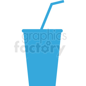 blue soda cup with straw icon clipart. Royalty-free image # 408658