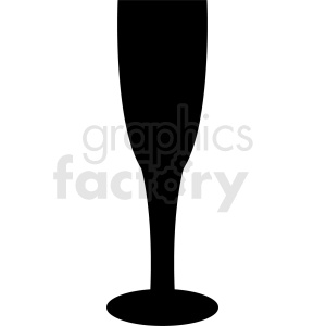 tall glass silhouette vector clipart. Commercial use image # 408676