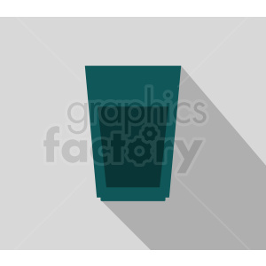 cup icon on gray background