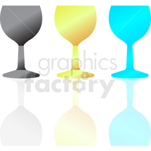 wine glass set icons clipart. Commercial use image # 408681
