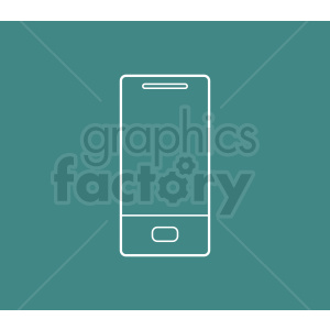 smartphone device outline vector design on aqua background clipart. Royalty-free image # 408715