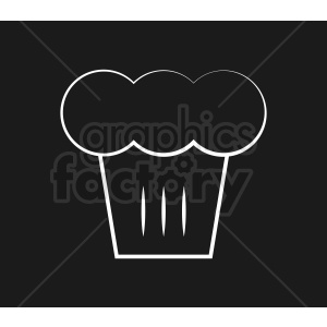 white chef hat vector icon on black background clipart. Commercial use image # 408726