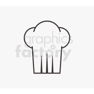 chef hat vector icon on light gray background clipart. Royalty-free image # 408743