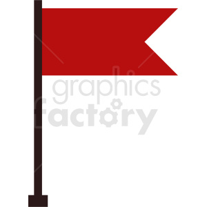 red flag icon design clipart. Royalty-free image # 408766