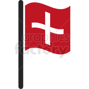 first aid flag icon clipart. Royalty-free image # 408793