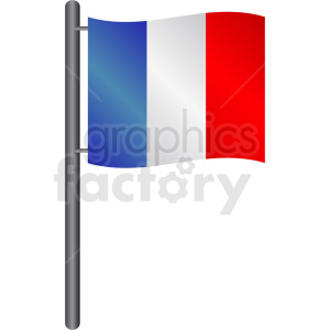 french flag icon clipart. Royalty-free image # 408801