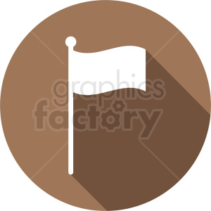 flag icon on circle brown background clipart. Royalty-free image # 408808