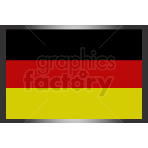 german flag vector icon clipart. Royalty-free image # 408848