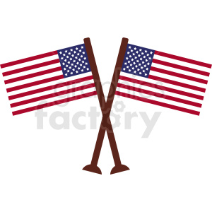 american flags crossed clipart. Royalty-free image # 408863