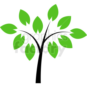 vector tree design no background