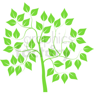 light green tree design clipart. Royalty-free image # 408906