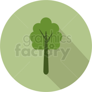 vector forest tree design on circle background clipart. Commercial use image # 408908