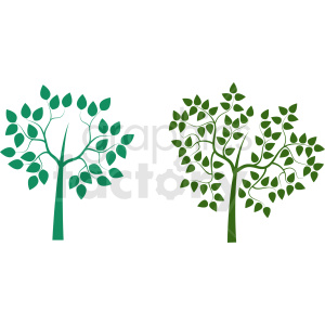 two trees design clipart. Commercial use image # 408918