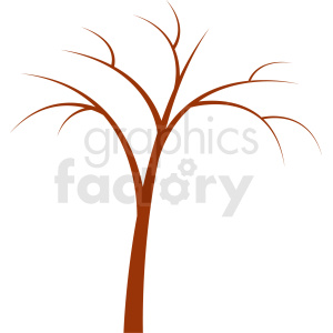 brown tree design with no leaves