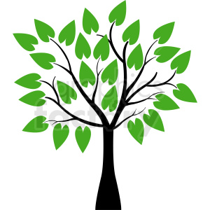 vector tree with huge leaves clipart. Commercial use image # 408923
