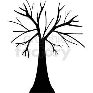 vector tree outline clipart. Commercial use image # 408941