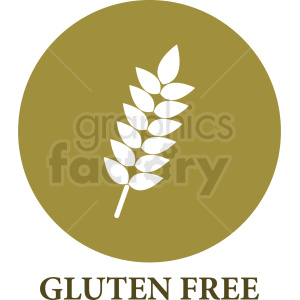 gluten free symbol on brown background clipart. Commercial use image # 408946