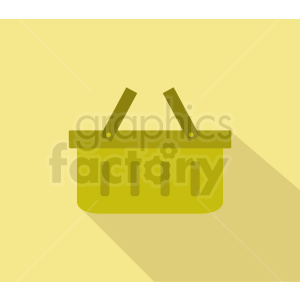 picnic basket icon design on yellow background clipart. Royalty-free image # 408968
