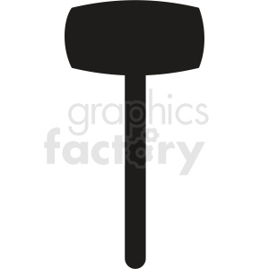 sledge hammer outline vector clipart. Royalty-free image # 409059