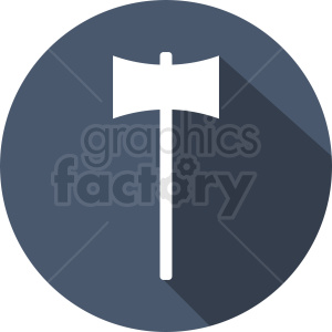 hammer icon on blue background clipart. Royalty-free image # 409101